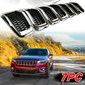 Chrome Front Grill Grille Grills Replacement For Jeep Grand Cherokee 2014 2018