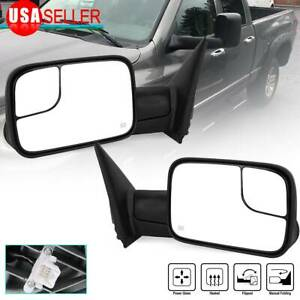 Left Right Tow Mirrors For 2002 08 Dodge Ram 1500 03 09 2500 3500 Power Heated
