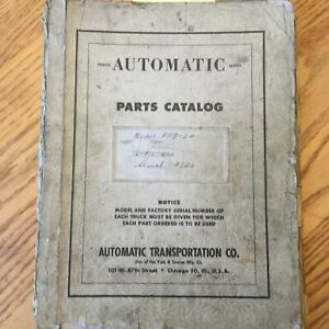 Automatic Ffe 20 Parts Manual Book Catalog List Electric Fork Lift Truck Yale