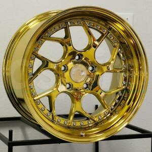 Aodhan Ds01 Ds1 18x8 5 18x9 5 5x114 3 35 30 Gold Vacuum Wheels 4 73 1 18 Inch