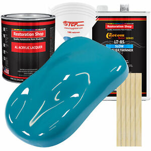 Petty Blue Acrylic Lacquer Gallon Auto Paint Kit Slow Thinner
