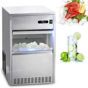 Ca Pick 60 Lbs Ice Maker Countertop Commercial Bar House Stainless Steel Machine