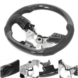 Vehicle Carbon Fiber Steering Wheel With Buttons Fit For Toyota Corolla wish r