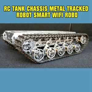 Rc Tank Chassis Metal Tracked Robot Smart Wifi Robot Car Shock Absorption Tzt D