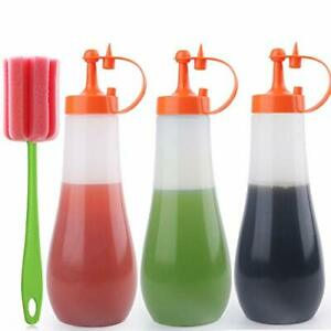 Condiment Squeeze Bottle Sauce Squeeze Squirt Bottle For Kitchen Plastic Syrup