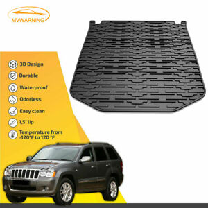 Rubber Cargo Rear Trunk Floor Mat Protector Liner For 11 17 Jeep Grand Cherokee