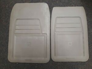 Nos Oem Gm 1988 98 Chevy Truck Suv Light Tan Front Rubber Floor Mat Pair