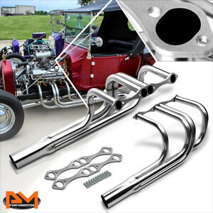 For Chevy Sbc V8 265 400 T Bucket Street Rod Stainless Exhaust Header Manifold