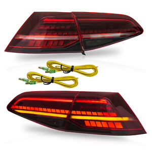 Customized Mk7 5 Style Red Clear Full Led Taillights For 15 17 Vw Golf Mk7 Gti