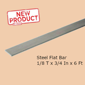 Stainless Steel Flat Bar Stock 1 8 In X 3 4 In X 6 Ft Rectangular Mill Finish
