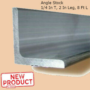 Aluminum Angle 1 4 Inch X 2 Inch X 8 Ft Smooth Unpolished Metal Alloy Stock New