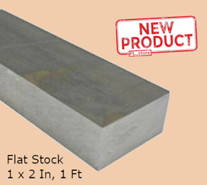 Aluminum Bar Flat Stock 1 Inch X 2 Inch X 1 Ft Alloy 12 Inch L Unpolished 6061