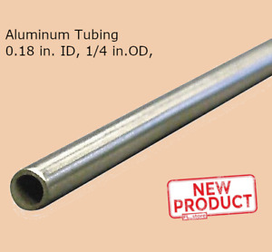 Aluminum Tubing Round 1 4 Inch X 6 Ft Long Seamless 0 180 Inch Tube Fittings New