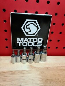 Matco Tools Metric Ball Hex Socket Set 1 4 3 8 Dr 4 6 7 8 9 And 10mm