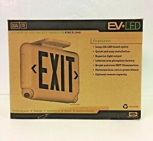 Hubbell Dual lite Evcugw Exit Sign With Emergency Lights Green