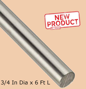 Solid Round Rod Stock 3 4 Inch X 6 Ft 72 Stainless Steel Unpolished Annealed