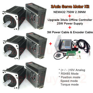 Upgrade 3axis Offline Controller Servo Motor Driver Kit 750w 2 39nm For Cnc Mill