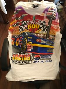 Lowes Motor Speedway Charlotte NC 2000 NASCAR racing Coca-Cola 600 XL T-Shirt