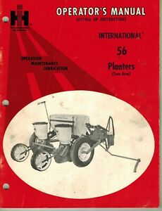 International 56 2 row Trailing Planter Operator s Manual