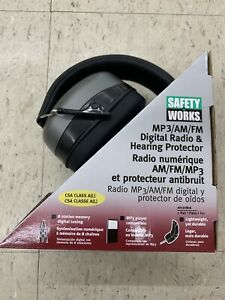 Safety Works 10121816 Mp3 am fm Digital Radio Hearing Protector Ships Free