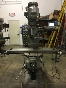 Bridgeport Series 1 Milling Machine 9 x48 Table Power Table Feed Acu Rite Dro