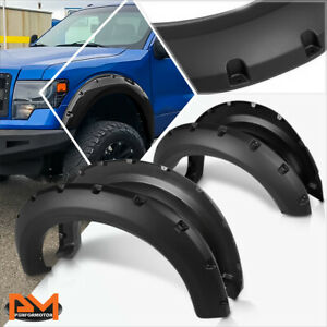 For 09 14 Ford F150 Pickup Abs Pocket Rivet Wheel Fender Flare Smooth Textured