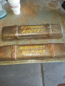 Vintage Oldsmobile Rocket V 8 Valve Covers Way Kool Great Patina