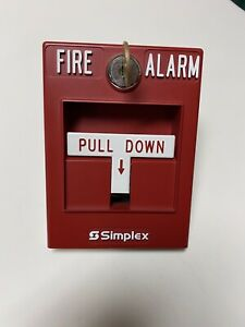 Simplex 2099 9754 Single action Manual Fire Alarm Pull Station No Key