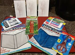 Expo Dry Erase Markers Scissor Set Book Covers Pennywise Note Pads lot 9