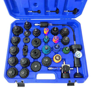 33pc Cooling System Radiator Pressure Tester W Coolant Purge Refill