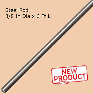 Stainless Steel Solid Round Stock 3 8 Inch X 6 Ft Unpolished 72 Inch Long Rod