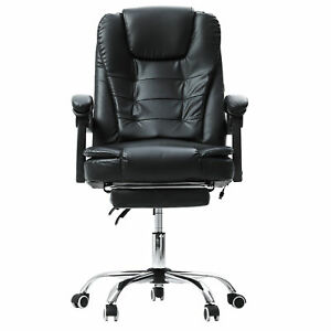 Reclining Massage Office Chair Computer Gaming Chair Ergonomic W Footrest