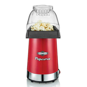 Throwback 60061 sn 16 Cup Electric Hot Air Popcorn Popper Maker Machine Red