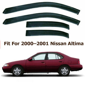 4pcs Window Visor Sun Vent Rain Guard Deflector For Nissan Altima L30 1998 2001
