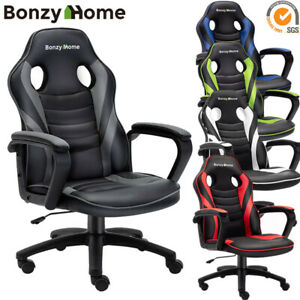 Gaming Chair Racing Pu Leather Office Swivel Executive Computer Desk Task Chair