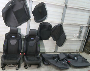 2016 2018 Ford Focus Rs Recaro Blue Stitched Seat Package Interior Oem