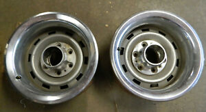 2 1967 1987 Chevy Gmc Truck 6 Lug 15 X 8 Rally Wheel Rim Caps Rings