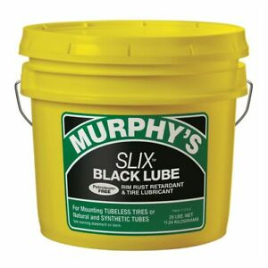 Murphy S Slix Black Tire Lubricant Mounting Compound 25 Lb Pail New Free Ship
