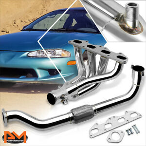 For 95 99 Eclipse Talon Non Turbo Stainless Steel 4 1 Exhaust Header Manifold