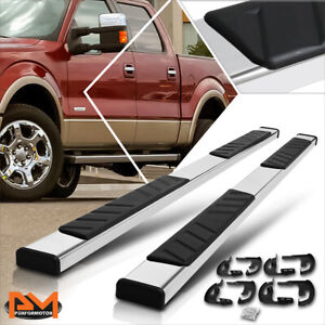 For 04 14 Ford F150 Crew Cab 5 Polished Side Step Nerf Bar Flat Running Boards