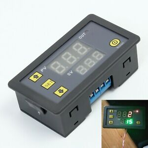 Timing Delay Relay Module Cycle Timer Dc12v Digital Led Dual Display 0 999 Hours