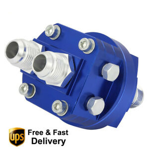 Universal Blue 10 An10 Cooler Sandwich Plate Adapter Oil Filter Relocation Kit