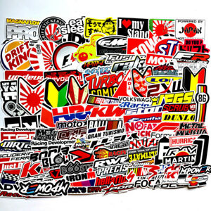100pcs Jdm Stickers Pack Car Motorcycle Racing Motocross Helmet Vinyl Decals Lot