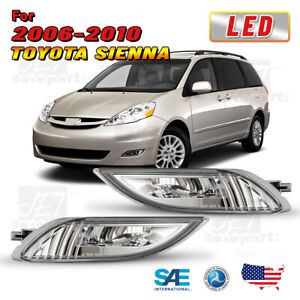 Led Fog Lights For 06 10 Toyota Sienna Driving Lamp Clear Wiring Switch Kit Pair