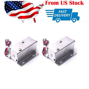 2x Mini Electric Door Lock 12v Cabinet Drawer Locks Electric Lock Access Control