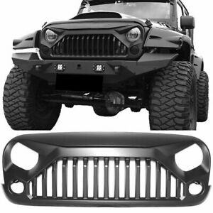 Front Bumper Upgraded Grille Grill Angry Bird For 2007 2018 Jeep Wrangler Jk Us