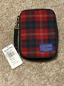 Read Nwt Pendleton Jr Organizer Planner Zip Around Wallet Wool Red Plaid