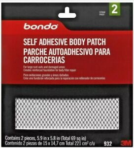 New Bondo 932 Self Adhesive Auto Body Patch Rust Repair Free Shipping