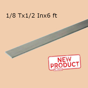 Stainless Steel Flat Bar Stock 1 8 Inch X 1 2 In X 6 Ft Rectangular Mill Finish