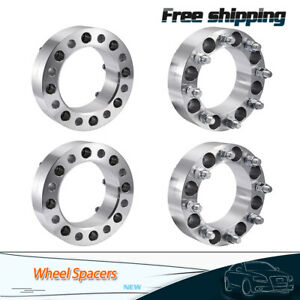 4pcs 2 Wheel Spacers 8 Lug Adapter 8x6 5 For Chevy C K 2500 3500 Gmc Sierra